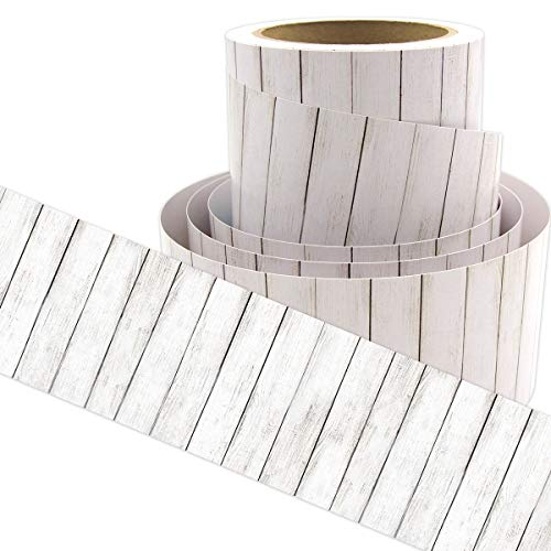 White Wood Bulletin Board Border Straight Border Trim for Classroom Decoration 36ft