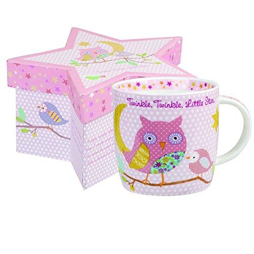 Queens Little Rhymes Taza con diseño de Espadas, Color Rosa, con Caja de Regalo de 230 ml, Porcelana, Multicolor, 7.6 x 7.6 x 11 cm
