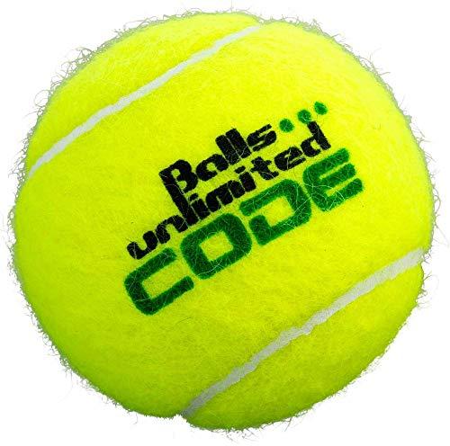 Balls ... unlimited Code Green Tennisball, Drucklose Trainingsbälle - 60er Beutel