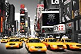 New York Time Square Yellow Cabs Day Städte-Poster Foto