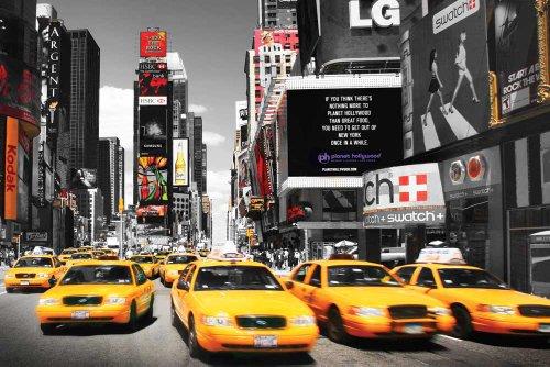 Empire poster new york time square-jaunes à new york day version 2 accessoires Ü-Poster der Grösse 61x91,5 cm
