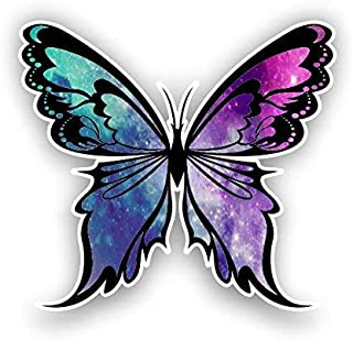 """Magnet Monarch Butterfly Starry Sky Magnetic vinyl bumper sticker sticks to any metal fridge, car, signs 5"""""""