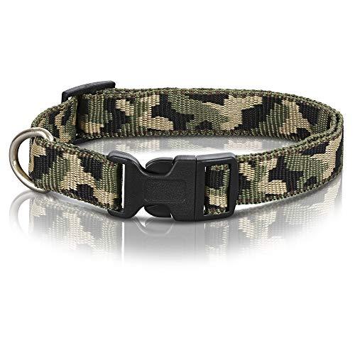 OOH!BENNY Halsband Camouflage Hundehalsband (L, Camouflage)