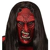 WIDMANN vd-wdm00614Máscara Medio Viso demonio para niños, rojo, talla única