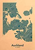DeXin Auckland Sealand Karte Wellington Gemälde auf