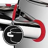 WMF Quality One Topfset Induktion 6-teilig, Kochtopf Set mit Glasdeckel, Cromargan Edelstahl poliert, Induktions Töpfe Set unbeschichtet, Dampföffnung - 9