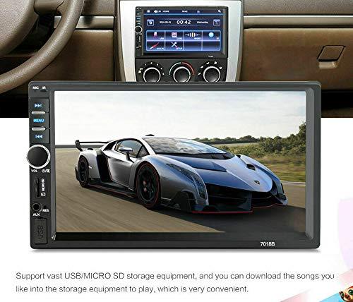 TOTMOX 2 DIN Bluetooth Car Audio, 7 pollici ad alta definizione touch screen multimediale lettore MP5, radio FM, vivavoce TF Card AUX ingresso audio, con telecomando