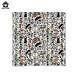 YUEOP Alle neumodischen Ghibli Studio Zeichen Totoro benutzerdefinierte Duschvorhang Badezimmer Dekoration Größe 36x7248x7260x7266x7272x7872x96 Zoll 66x72 Zoll