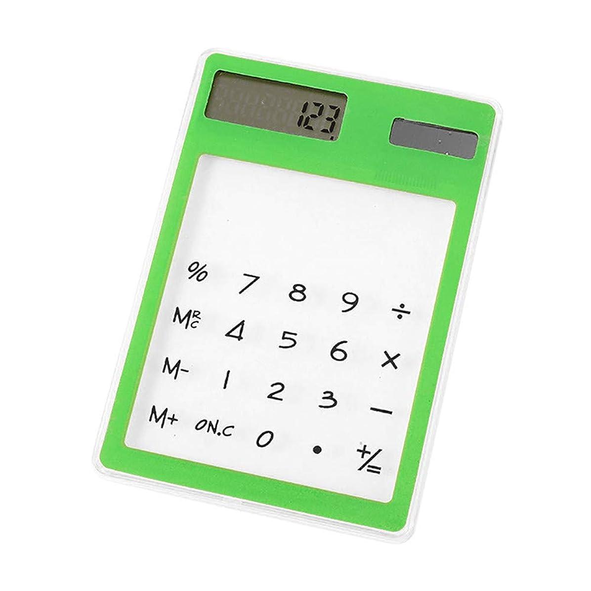 Sikye Mini Calculator,PVC Slim Solar Energy LED Transparent Scientific Calculator,Random Color
