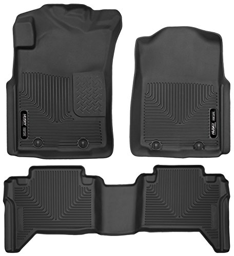 Husky Liners 53721-53801 - X-Act Contour - First and Second Rows All Weather Custom Fit Floor Liners for 2005-2011 Toyota Tacoma Double Cab