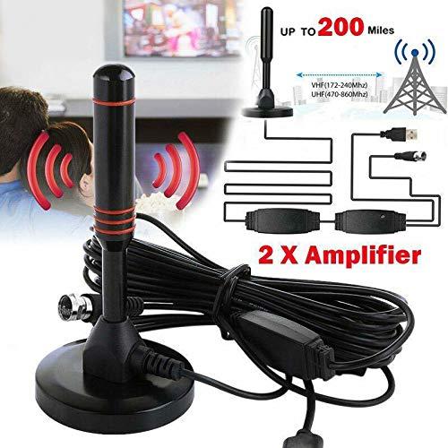 Juntful Indoor HD Digitale TV Antenne Sucker Antenne Frequentie Bereik 470-862MHz