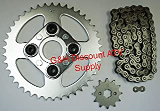 520X80 Drive Chain 12T Front 42T Rear Sprockets Kit for the Honda TRX 200SX Fourtrax