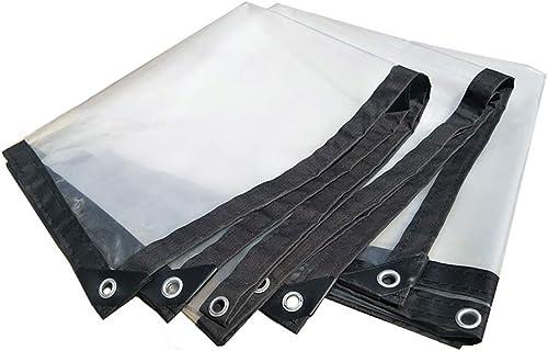ZXWDIAN En plein air Bordure épaisse transparente perforée film imperméabilisé imperméable et imperméable en plastique de feuille de culture de fleur de balcon en plastique Couverture imperméable Ponc