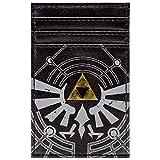 Cartera de Legend of Zelda Logotipo de la Trifuerza Dorada Negro