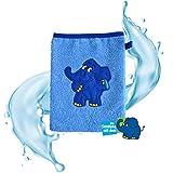 Smithy Waschlappen aus 100% Baumwolle – Öko Tex 100 zertifizierter Waschhandschuh blau mit...