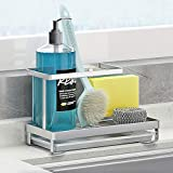 Kitchen Countertop Dish Soap Holder, Sponge Holder with...