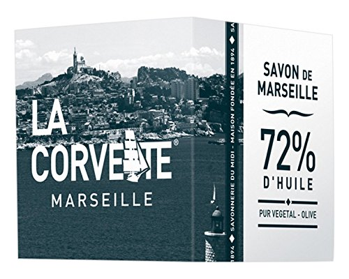La Corvette cubo de jabón de Marsella Olive ECOCERT recinto cartón 300G