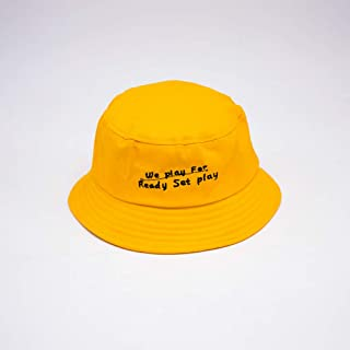 TIMWIL Women Cotton Bucket Hat Foldable Fisherman Hats UV Protection Sun Hats