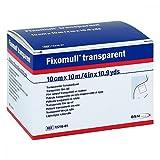 BSN Medical Fixomull - Cinta adhesiva (10 m x 10 cm), transparente