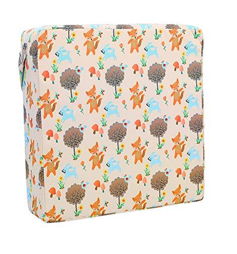 ZIUKENR Cojín para niños elevadores, cojín de refuerzo para silla de bebé lavable gruesa desmontable con correa para niños pequeños y bebés de varios colores