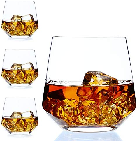 Whiskey Glass Set of 4 by Amallino Old Fashioned Glass 14oz as Rocks Glasses product image