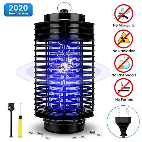 Elektrischer Insektenvernichter, SOLMORE UV Insektenvernichter Mückenlampe Insektenfalle Mückenfalle Moskitoschutz Lampe für Küche Wohnzimmer und Kinderzimmer
