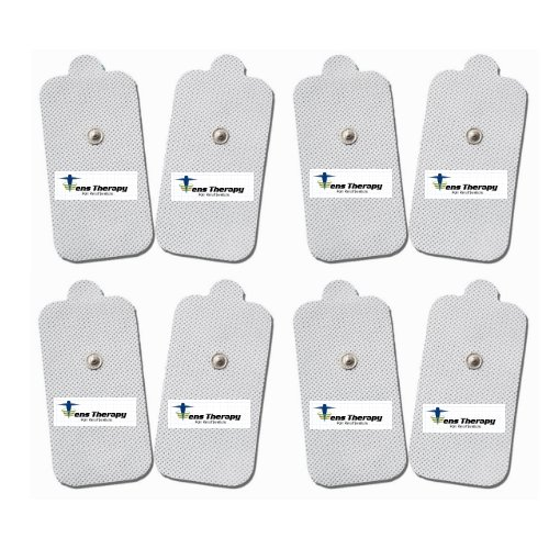 8 individual pads X-LARGE TENS Pads Electrodes with High Conductivity