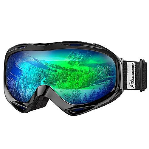 OutdoorMaster OTG Ski Goggles - Over Glasses Ski / Snowboard Goggles for Men, Women & Youth - 100%...