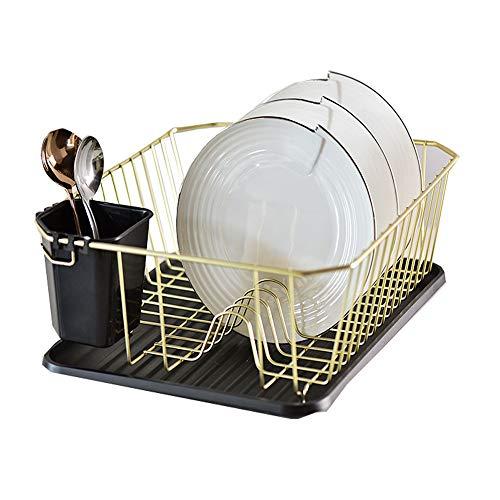 Égouttoir à vaisselle Acier inoxydable 304 égouttoir à vaisselle en acier inoxydable, étagère de rangement, grille de séchage de la vaisselle, grille de cuisine avec grille et plateau à baguettes (36