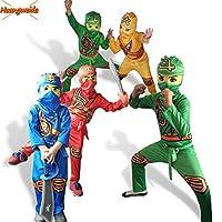 衣装子供ファンシーパーティー子供忍者コスプレスーパーヒーローの衣装ドレスアップジャンプスーツ