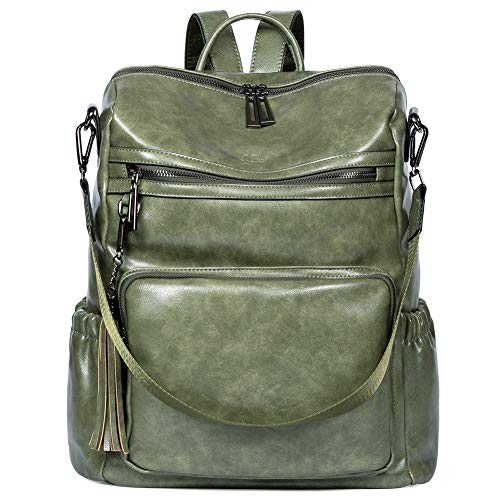Backpack Purse for Women Fashion Two Toned Leather Designer Travel Large...