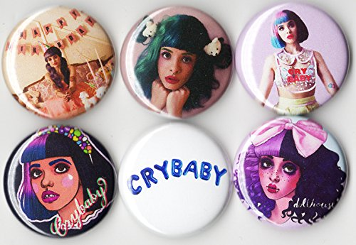 Melanie Martinez 6PCS Button Pack - 1 INCH Buttons - PIN Back Band Concert GIG WEAR