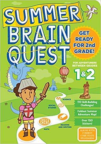 Summer Brain Quest: Between Grades 1 & 2 [by Megan Butler]-[Paperback],Best Sold Book in-Children's General Social Science