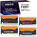 Zambrero CLT-P406C CLT-406S Cartucho de Tóner Reemplazo para CLT-K406S CLT-C406S CLT-M406S CLT-Y406S Compatible con Samsung Xpress SL-C460W C410W C460FW C463W CLX-3305 3300 3305FW CLP-360 365 365W