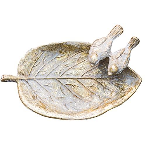 HNMY Cenicero Retro de Hierro Forjado Hoja decoración de pájaros cenicero Sala de Estar jardín al Aire Libre jardín Europeo Pastoral Ceniza Bandeja (Color : A)