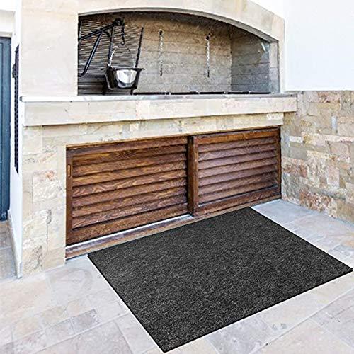 YUWEX Feuerfester Teppich Bodenschutzmatte Feuerhemmend Wasserdicht rutschfest Grillteppich Feuerfeste Unterlage für den Garten Schnelltrocknende Grillmatte