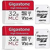 Gigastone 32GB 2個セット MLC Micro SD Card 高耐久 4K ビデオ撮影 防犯カメラ ドライブレコーダー 監視カメラ 対応 95MB/s U3 Class10