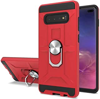 Minwu Case For OppoReno3Youth,Ultra Slim Shockproof TPU PC Case Anti-Scratch Back Cover with 360 Degree Rotatable Ring K...