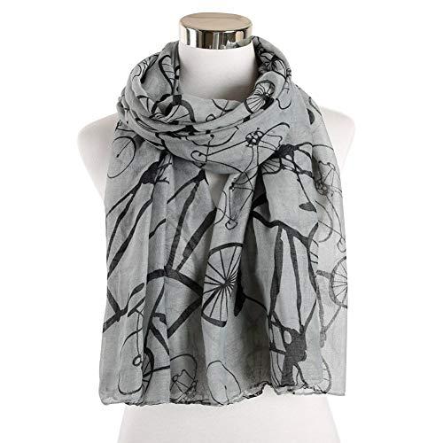MYTJG Lady sjaal mode vrouwen dames winter sjaal fiets patroon sjaal lange sjaal warme wikkelsjaal voile sjaals