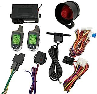 CarBest Vehicle Security Paging Car Alarm 2 Way LCD Sensor Remote Engine Start System Kit Automatic | Car Burglar Alarm Sy...