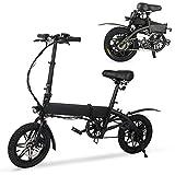 M MEGAWHEELS Bicicleta electrica Plegable, Bicicleta electrica e-Bike hasta 25 km/h, Bici Electricas Adulto con Ruedas de 14', Batería 36V 7.5Ah, Asiento Ajustable, con Pedales.