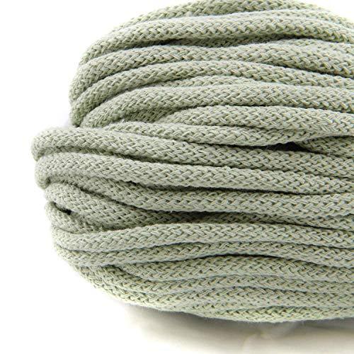 NTS Nähtechnik 50m Baumwollkordel mit Kern 6mm breit (mintgrün)