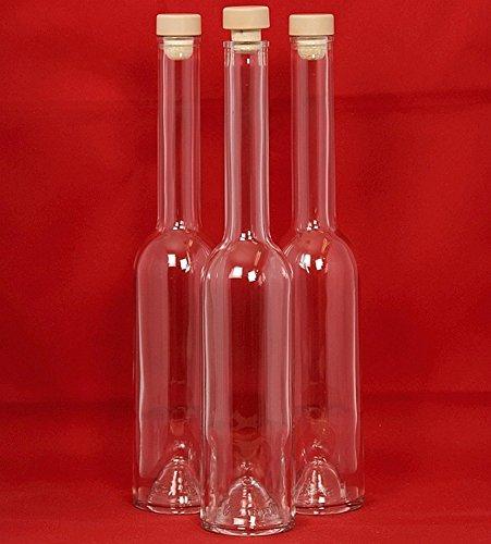 6-24 botellas de cristal vacías 100ml /200ml / 350ml / 500ml Opera, con mango de madera slkfactory