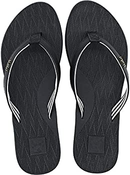 Kuailu Women's Flip Flops Non-Slip Fashion Leather Straps Sandals