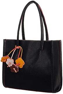 Big Sale! Fashion Elegant Girls Handbags PU Leather Shoulder Bag Clutches Candy Color Flowers Women Totes Purse