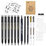 Tebik Hand Lettering Pens Kit, 22 Pack Calligraphy Pens Set, Calligraphy Markers with Everything for Beginners Writing, Journaling, Signature, Art Drawing, Illustrations, Card Making, Design