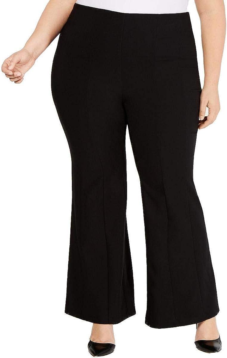 I-N-C Womens Mid Rise Flare Casual Wide Leg Pants