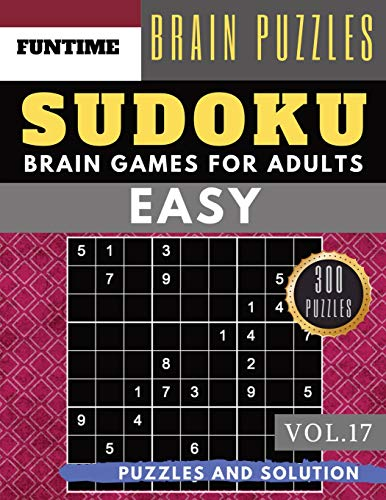 SUDOKU Easy: Jumbo 300 easy SUDOKU with answers Brain Puzzles Books for Beginners (sudoku book easy Vol.17)