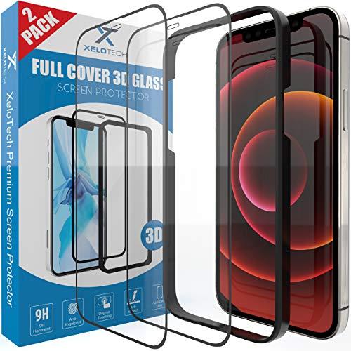 [2x Stück] Schutzglas für iPhone 12 MINI 5.4 Zoll, 3D Full Cover Glas, Displayschutzfolie, Panzerfolie, Glas Folie