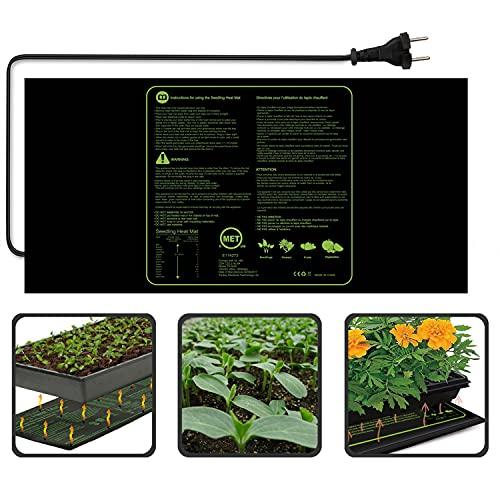 Lifcasual - Alfombra calefactora para semillas (100 W, impermeable, duraderas, frutas, verduras, semillas digitales para crecimiento, germinación, propagación, cojín de arranque, 48 x 20 pulgadas